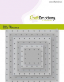 Craft Emotions Die - Squares, Vintage Rivets - 115633/0832